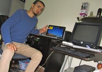 With my Macbook Pro